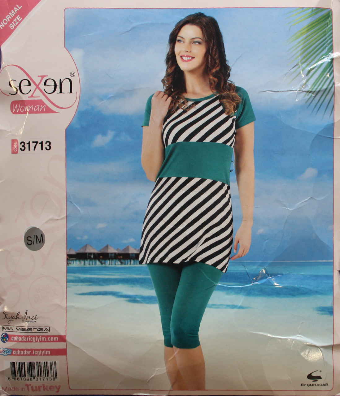 Пижама для женщин: футболка и бриджи SEXEN 31713