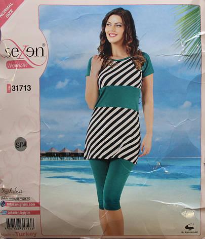 Пижама для женщин: футболка и бриджи SEXEN 31713, фото 2