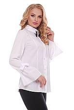 Біла красива блузка для повних жінок Агата, фото 2