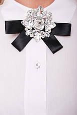 Біла красива блузка для повних жінок Агата, фото 3