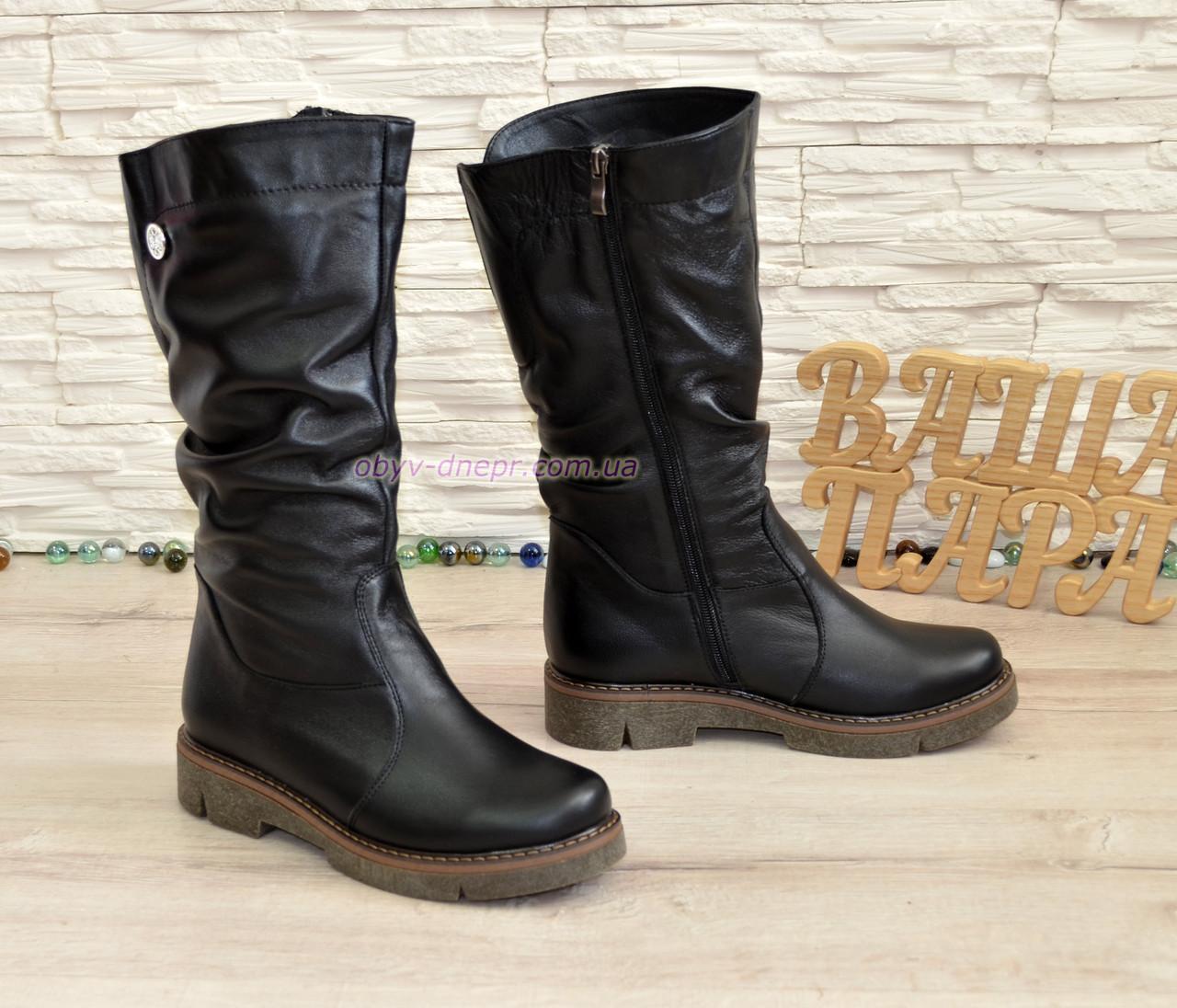 84b369969 Купить Ботинки женские демисезонные кожаные на утолщенной подошве в ...