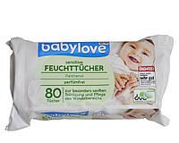 Дитячі вологі серветки Babylove Sensitive 80 шт, фото 1