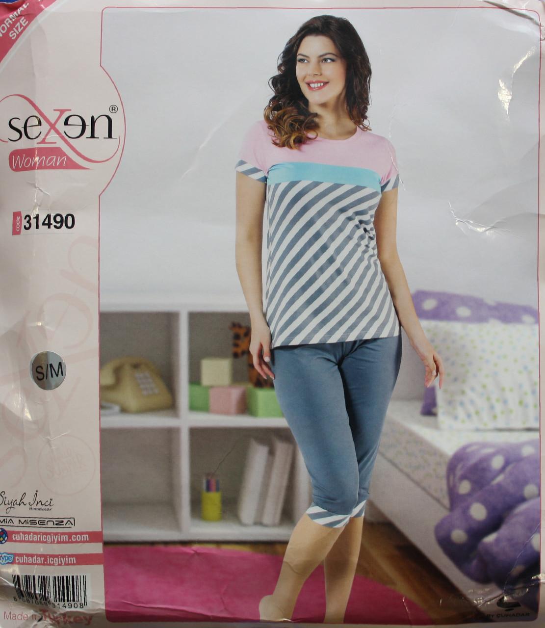 Пижама для женщин: футболка и бриджи SEXEN 31490