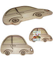 """Доска разделочная """"Машина"""" 34х21см, деревянная"""