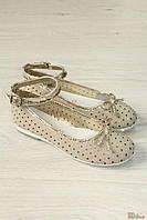 Туфли бежевого цвета со стразами (34 размер)  Asso 2126000267255
