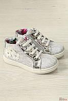 Ботинки из нежного серебристого текстильного кружева (26 размер)  Asso 2126000267262