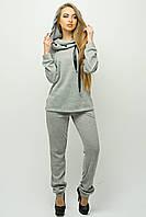 Женский стильный спортивный костюм с капюшоном Крокус / размер 44-54 / цвет серый