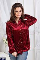 Рубашка (42, 44, 46, 48) — велюр купить оптом и в Розницу в одессе 7км