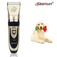 Практичная машинка для стрижки животных беспроводная BaoRun P2 Gold. Хорошее качество. Купить. Код: КДН3108