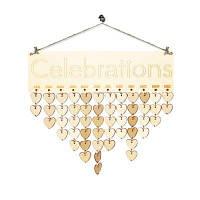 Праздничный День рождения Календарь DIY Деревянная доска напоминания сердце