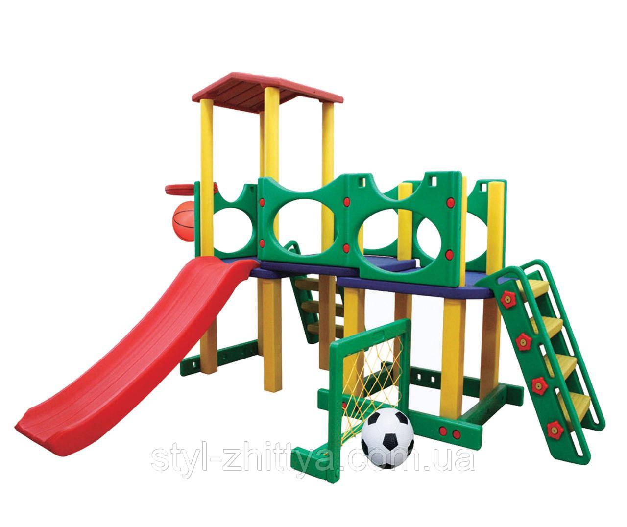Ігровий майданчик: гірка + баскетбол + ворота