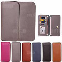 Версия кожаный полный пакет Анти-падение защитный чехол для мобильного телефона 6 дюймов ниже Универсальный Серый