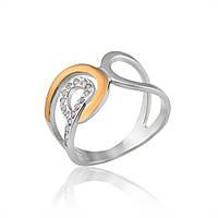 """Кольцо """"Лион"""" из серебра и золота"""