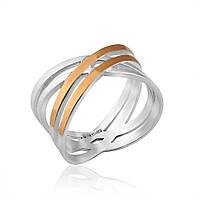 Кольцо с золотыми пластинами Юрьев арт.452