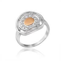 Кольцо с золотой вставкой Юрьев 445к