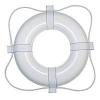 Taylor Made 24 White W/White Rope Foam Ring Buoy