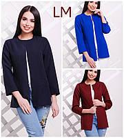Пиджак 881721 размер 42,44 женский красивый деловой однотонный батал синий осенний весенний