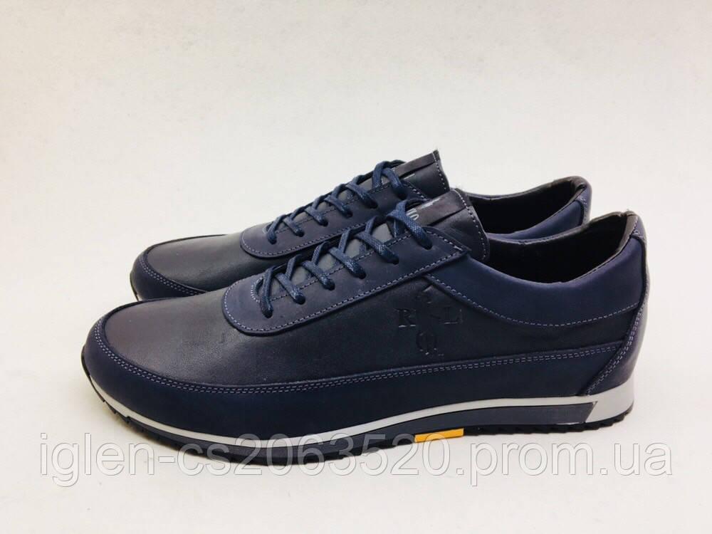 585ad8467 Мужские кроссовки POLO синие *крейзи* (лицевые) - Интернет-магазин мужской  обуви