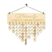 DIY Family Birthday Calendar Reminder Деревянная доска сердце