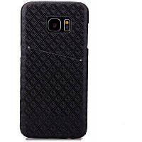 Алмазный Малая проверка PU кожаный ручка мобильный телефон оболочки для Samsung S7 Пограничный Чёрный
