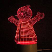3D Рождество Снеговик форма Цвет изменение пульт дистанционного управления Ночной свет Прозрачный