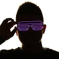 Мигающий светодиод затвора очки партии маски Красный