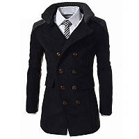 Двобортне тонке чоловіче пальто з довгим рукавом, Пальто весна осінь чоловіче, фото 1