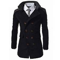 Двубортное тонкое мужское пальто с длинным рукавом, Пальто весна осень мужское