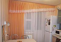 Ламбрекен со шторой в кухню