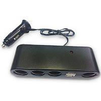 Простое автомобильное зарядное устройство с двойным USB-разъемом адаптер для 1000mA портативная зарядка для телефона Чёрный