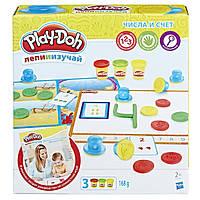 Игровой набор Play-doh Цифры и числа для детей от 2 лет. Оригинал Hasbro B3406