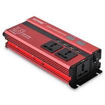 XUYUAN LED 1200W инвертор мощности с экраном 12-220В Красный, фото 2
