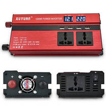 XUYUAN LED 1200W инвертор мощности с экраном 12-220В Красный, фото 3