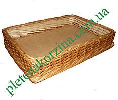 Лоток плетеный из лозы h10-30*20