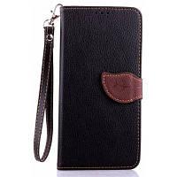 Любви лист карточки удостоверения личности PU кожаный чехол для Мото Nexus 6 Чёрный