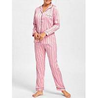 Пижама Из Атласа В Полоску XL