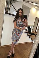 Платье женское с поясом лето (шелк армани) 20 СП