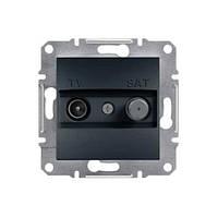 Розетка Schneider-Electric Asfora Plus TV-SAT одинарная (1 дБ) антрацит