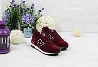 Женские кроссовкиNew Balance 1400  бордовые на белой подошве (Реплика ААА+), фото 1