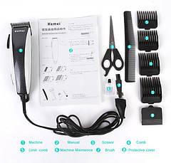 Машинка для стрижки волос Kemei KM-651, фото 3