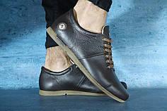 Мужские демисезонные туфли коричневые