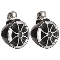 Wet Sounds Icon 8 Wakeboard Tower Speakers W/Swivel Clamp