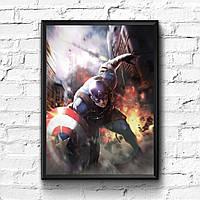 Постер с рамкой Captain America