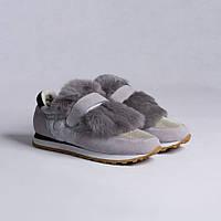 Женские кроссовки с мехом Maria Caruso (деми)