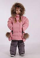 Зимний костюм для девочки 104 размер пудра