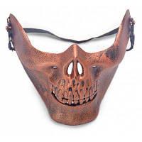 Декоративная ужасная маскарадная маска Красно-коричневый