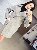 """Демисезонное женское пальто  """"Елена"""", светло-серый"""
