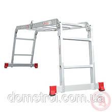 Лестница алюминиевая мультифункциональная трансформер 4x2 ступ. 2,50 м INTERTOOL