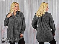Модная повседневная блуза, Размеры 62,64,66, фото 1