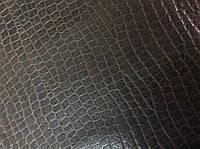 Натуральная кожа  двухцветная с тиснением рептилия крокодил, фото 1